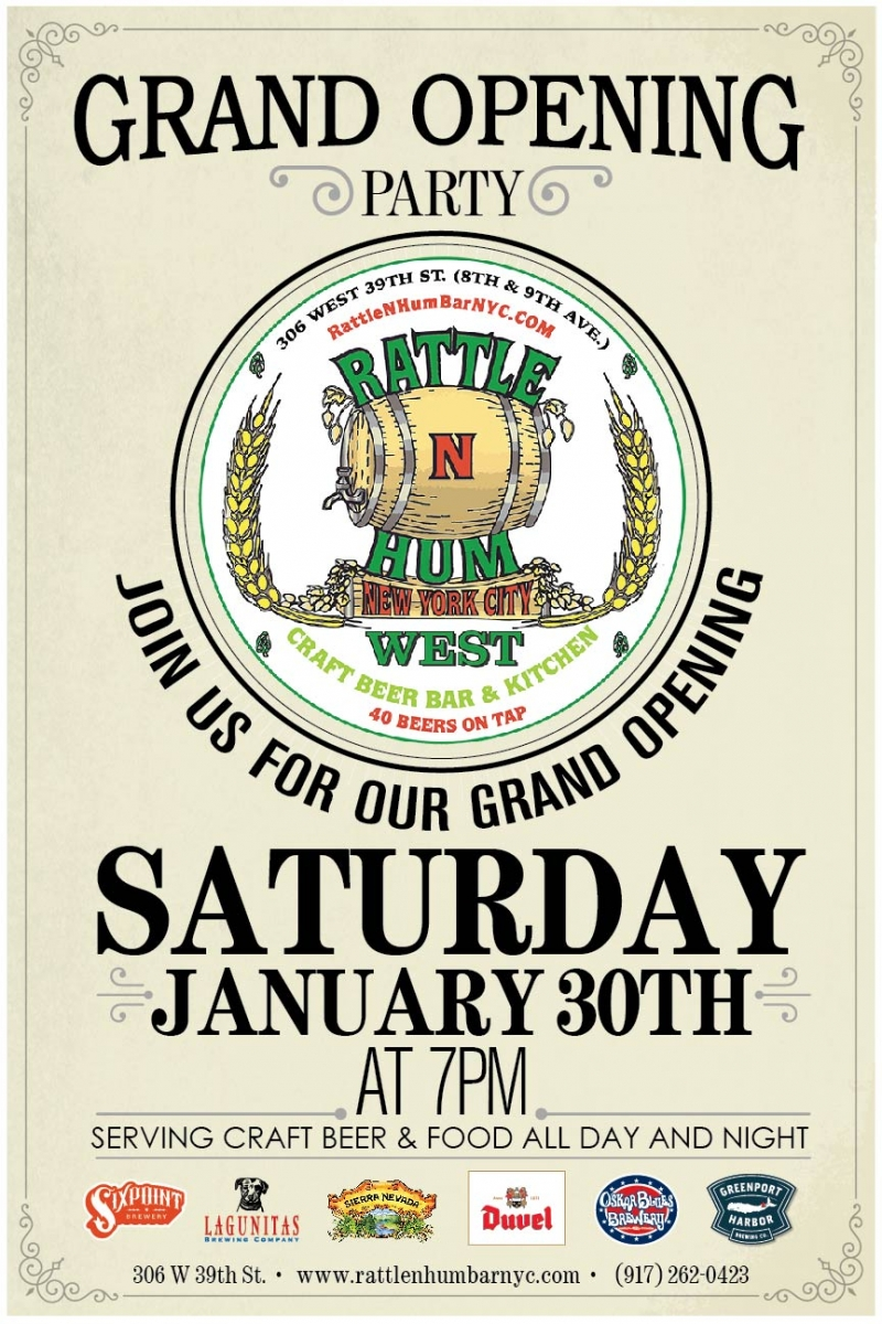 Celebrate the opening of Rattle and Hum West! | Union Beer