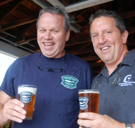 John Liegey and Rich Vandenburgh, Co-Founders of Greenport Harbor Brewing Company.