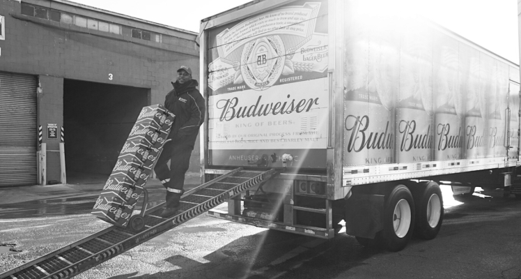 loading up budweiser truck
